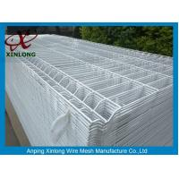 China Bus Station Triangle Curved Wire Mesh Fence Diameter 3.8 - 4.0mm PVC Dipped Coating wholesale