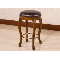 Classic Espresso Counter Height Bar Stools , Wooden Swivel Bar Chairs With Back