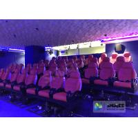 China JBL Sound System 6D Movie Theater Black / Red Motion Chairs For Shopping Mall wholesale
