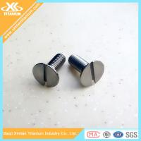 China Gr5 Titanium Slotted  Flat Head Machine Screws wholesale