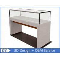 China 1200X550X950MM Wooden Glass Jewelry Counter Display Cases wholesale