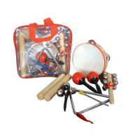 China Portable Kids Musical Instrument With Plastic Bag , 6 Pcs Wood Percussion Set wholesale