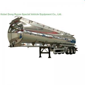 China Aluminum Alloy Fuel Tank Semi Trailer 45000L ~50000L With Air Bag Suspension wholesale