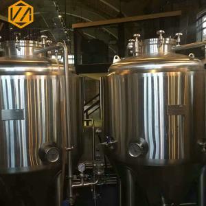 Quality 2B Finish Beer Fermentation Tanks , 2 Bar Pressure Stainless Steel Beer for sale