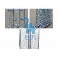 China Electroplating Steel Nestable Roll Containers , Four Wheels Security Storage Cage wholesale