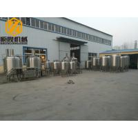 Quality 5HL Microbrewery Brewing Equipment , automated beer brewing system with data for sale