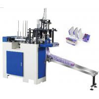 Disposable PE Coated Paper Lunch Box Making Machine 6.5kw 55 - 60 PCS/min