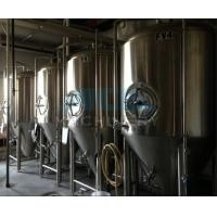 China beer brewing equipment/dimple plate jacketed beer fermenter, bright beer tank 100-3000L wholesale