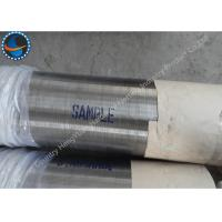 China Stainless Steel LTC Threaded Wire Wrap Screen Pipe For Water Well / Oil Well wholesale