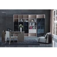 China Cheap Apartment room Fashion Home office Furniture Study Computer Reading table and Glass door bookcase with wood Shelve wholesale