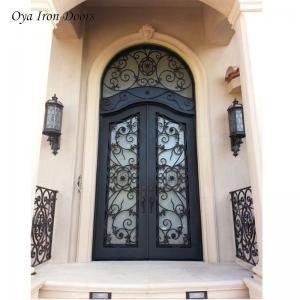 China lowes wrought iron security doors exterior door metal double doors wholesale