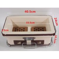 China Household Hibachi Ceramic BBQ Grill Porcelain Enameled Outdoor Use SGS wholesale