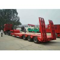 China Low Bed Heavy Duty Semi Trailers , 3 Axle Semi Trailer 50 To/ 60 To / 70 ton wholesale