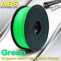 China Customized Green1.75mm / 3.0mm 1.0KgG / roll ABS 3D Printer Filament wholesale