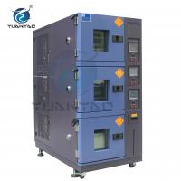 China Custom 3 Layer Temperature Humidity Environmental Test Chamber With LCD Touch Screen Controller wholesale