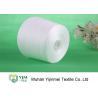 China Raw White 100% Polyester Spun Yarn High Tenacity For Knitting wholesale