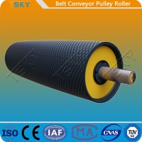 China Heavy Duty Belt Conveyor Motorized Driving Pulley Drum With Rubber Lagging DIN, AFNOR, FEM, BS, JIS, SANS, CEMA wholesale