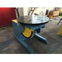 China Motorized Rotating / Tilting Rotary Welding Turning Table For 2 Ton Rated Load Cap wholesale