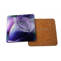 Quality 3D Lenticular Placemats Cork Backed Heat Resistant  EVA / Cork Coaster PET 0.6mm Thickness for sale