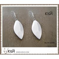 China OEM / ODM fashion jewelry 925 sterling silver earrings with Zircon W-AS996 wholesale