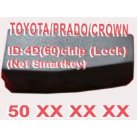 China Toyota / Prado / Crown 4D60 Duplicable Chip 50xxx Car Key Transponder Chip wholesale