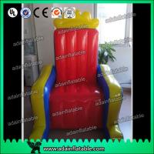 China Customized PVC tarpulin cloth Inflatable Airtight King Throne Princess Throne wholesale