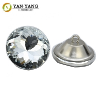 China wholesale price diamond glass sofa button crystal buttons wholesale