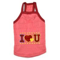 Buy cheap pet clothes dog vest for summer days T-shirt cotton material from wholesalers