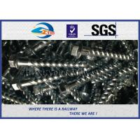 China Steel 35# Spiral Spike nails HDG coating  For Rail Fastening System wholesale