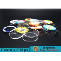 China Acrylic Plastic Separate Customized Poker Chips For Gambling Dedicated Using wholesale