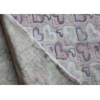 Buy cheap Heart Pattern Printed Flannel Fleece Fabric Shrink - Resistant product