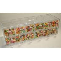 Quality Custom Acrylic Candy Display Cases Boxes With 12 Drawers For Supermarket for sale