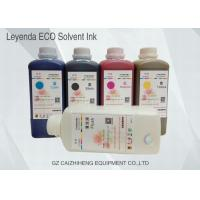 China Environmental Eco Solvent Inks 1 Liter For Epson DX4 DX5 DX7 Printhead wholesale
