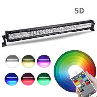 China Multi Color LED Car Light Bar 22 Inch 120W Bluetooth App / Wiring Harness Control wholesale
