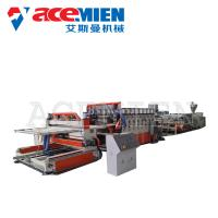 China PVC Foam Plate Making Machine 25m*5m*3m With Forming Table Tracking Cutter wholesale