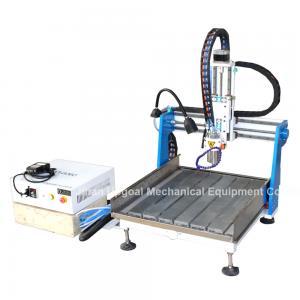 China Gantry Moving Desktop Aluminum CNC Router Machine with DSP A11E Offline Control wholesale