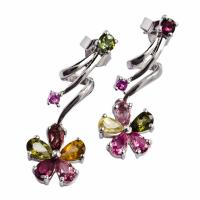 China 2012 Crystal Silver Gemstone Earrings K-BC-D33, OEM / ODM Welcomed wholesale