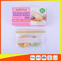 China Seals Tight Plastic Ziplock Snack Bags Reuseable With Private Lable wholesale