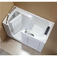China Inward Door Open Walk In Bath And Shower Rectangle Shape For Older / Disable People wholesale