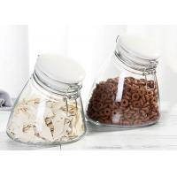 China Unique Candy Empty Glass Jars Food Storage Glass Jar With Airtight Ceramic Clip Lid 1000ml wholesale
