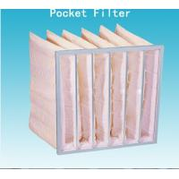 Quality Medium Efficiency F5 Pocket Air Filter , Anti Static Air Conditioning Dust for sale