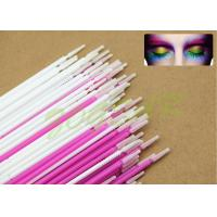 China Plating eyelash cleaner colors Micro Applicator white mauve imported soft fiber wholesale