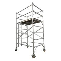 Buy cheap Double width aluminum scaffold tower with 2.5m standing height from wholesalers