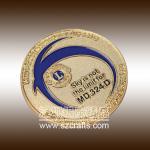 Custom high quality metal golden commemorative coin--Shenzhen factory