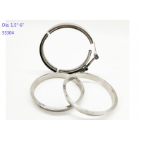 China 5 Inch Quick Release 19mm Width Stainless Steel Exhaust Clamps wholesale