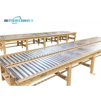China Zinc Plated Package Flexible Gravity Roller Conveyor wholesale