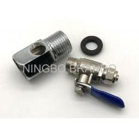 China Zinc Alloy Ball Valve And 3 Way Adapter for Reverse Osmosis Parts Water Purifier wholesale