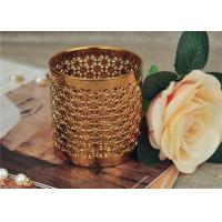 China Golden Pottery Home Decor Candle Holders Glazing Outside And Inside Wall wholesale