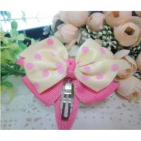 China Most popular children's colorful bowknot hair clips jewelry wholesale