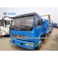 China 5m3 Self Loading Dongfeng Swing Arm Garbage Truck With Hanging Chain wholesale